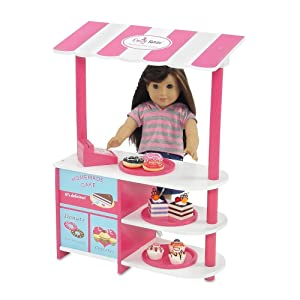 Emily Rose 18-inch Doll Furniture Accessories | Amazing Kid's Pretend Play Bakery Stand, Includes Serving Plates, Cash Register and 8 Colorful Pretend Baked Goods | Fits American Girl Dolls