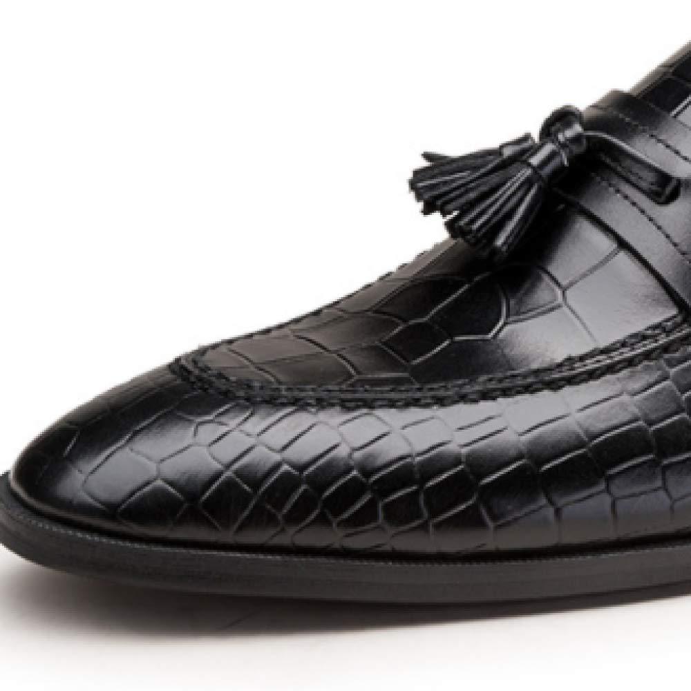 Großhandelsschuhe der Männer der Großhandelshauptschicht Leder europäische Version der Männer Leder Schuhe der Britischen Männer schwarz 9dd56f