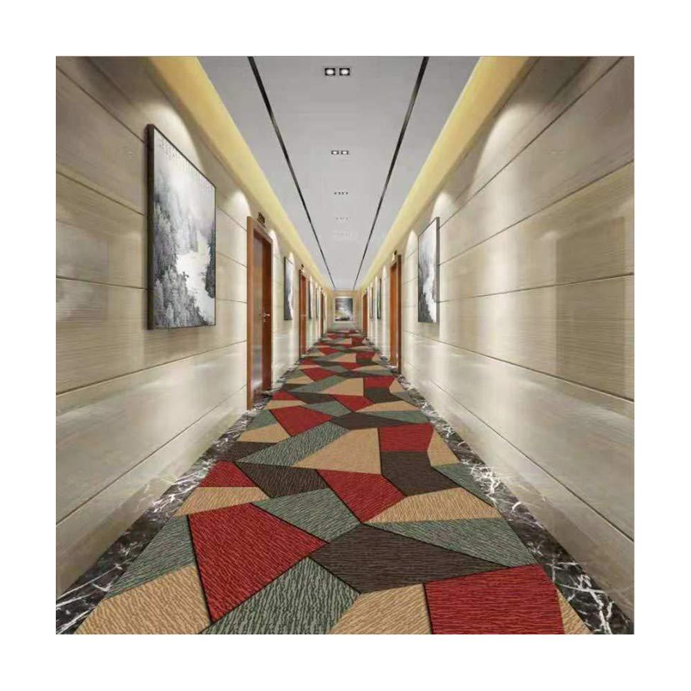 Mbd Corridor Full Carpet European Style Foyer Aisle Staircase Cutting mat (Color : B, Size : 100100CM)