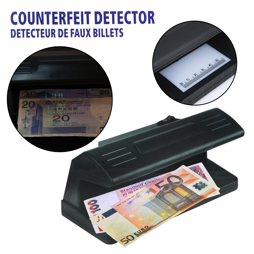 Amazon.com : 4W Ultraviolet UV Light Counterfeit Bill Detector Handheld Currency Money Dollar Detection Tester Machine with Led Blacklight : Office Products