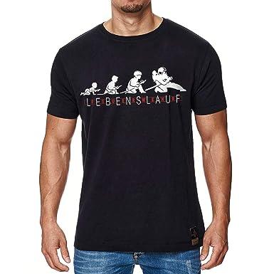 85ae06e241fae2 Feuerwehr Lebenslauf Männer T-Shirt schwarz