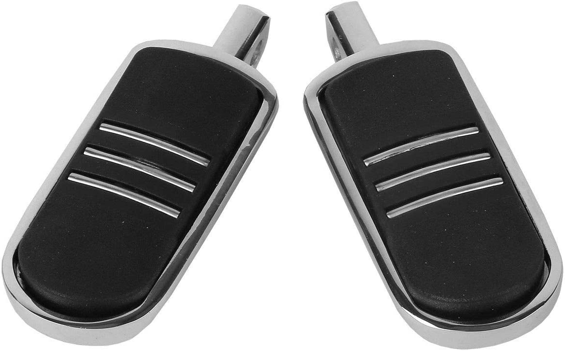 plus most highway pegs that use a male mount. TCMT Chrome Rubber Inlay StreamLiner Foot Pegs Motorcycle Footpeg Footrest Set Fits For 1986 and Newer Harley Davidson Touring and Softail Models