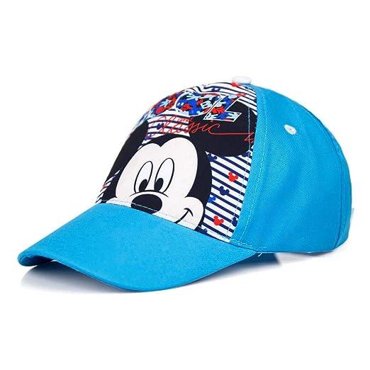 Guizmax Gorra Niños Mickey Mouse Talla 52 cm Cool Azul: Amazon.es ...