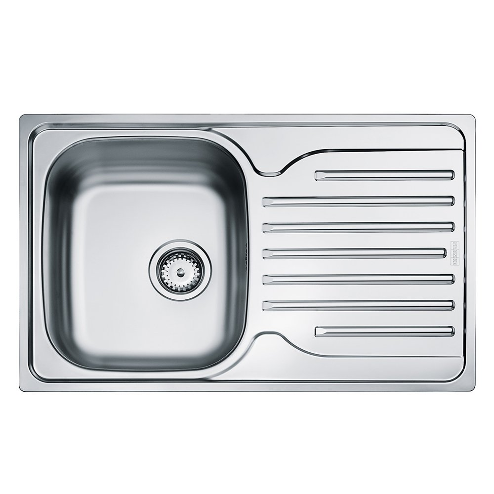 Franke 101.0251.296 Stainless Steel Silk Kitchen Sink with Single Bowl - Grey