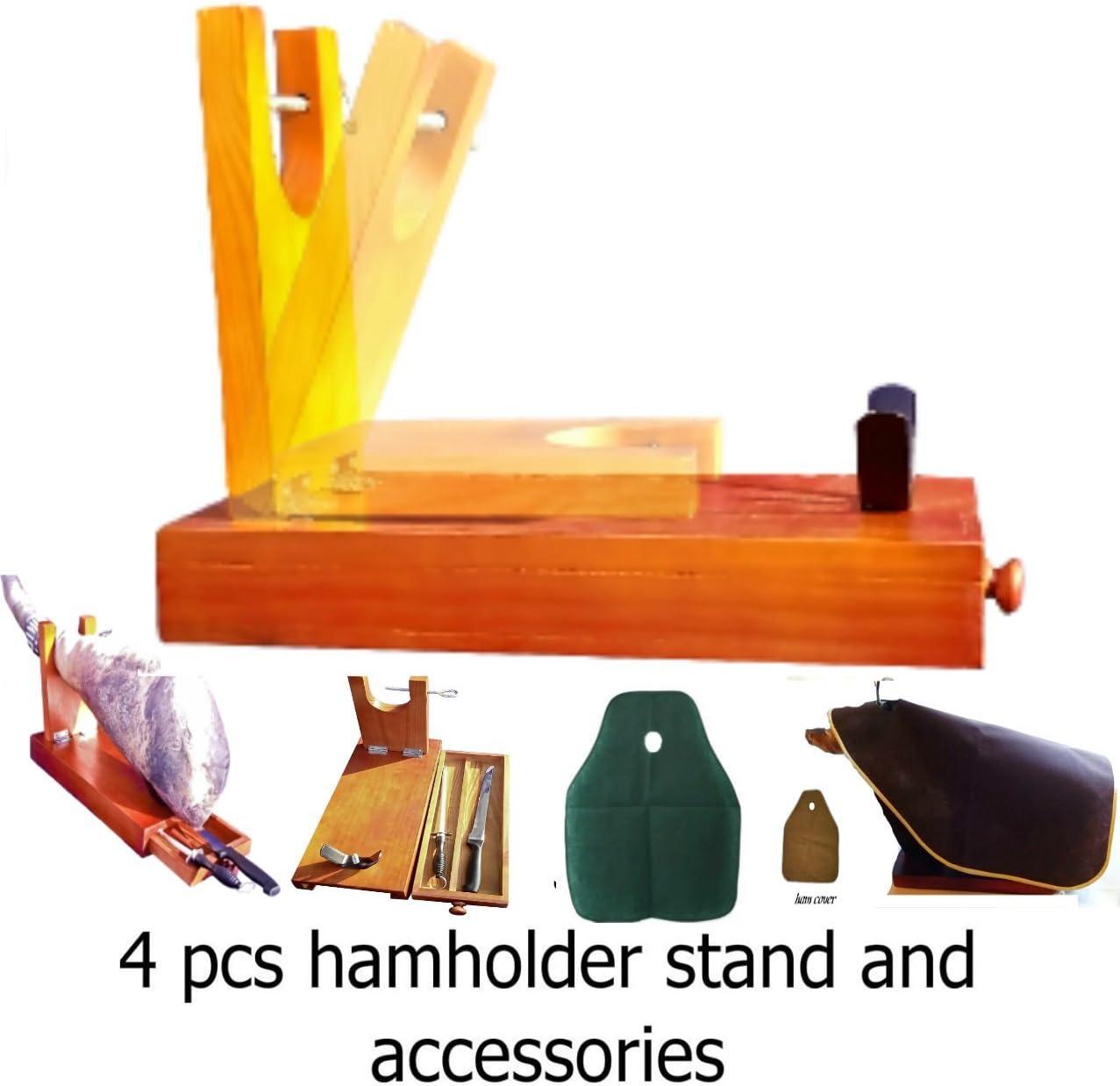 truevine Jamonero de 4 piezas, cuchillo, funda para jamón y afilador: Amazon.es: Hogar