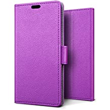 SLEO Case for Huawei NOVA 2, Luxury Wallet Flip PU Leather Protective Case Cover with Card Slot and Stand Feature for Huawei NOVA 2 - Purple