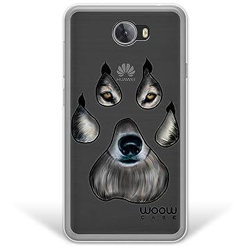 WoowCase Funda Huawei Y5 II, [Hybrid ] Huella Lobo Wolf ...