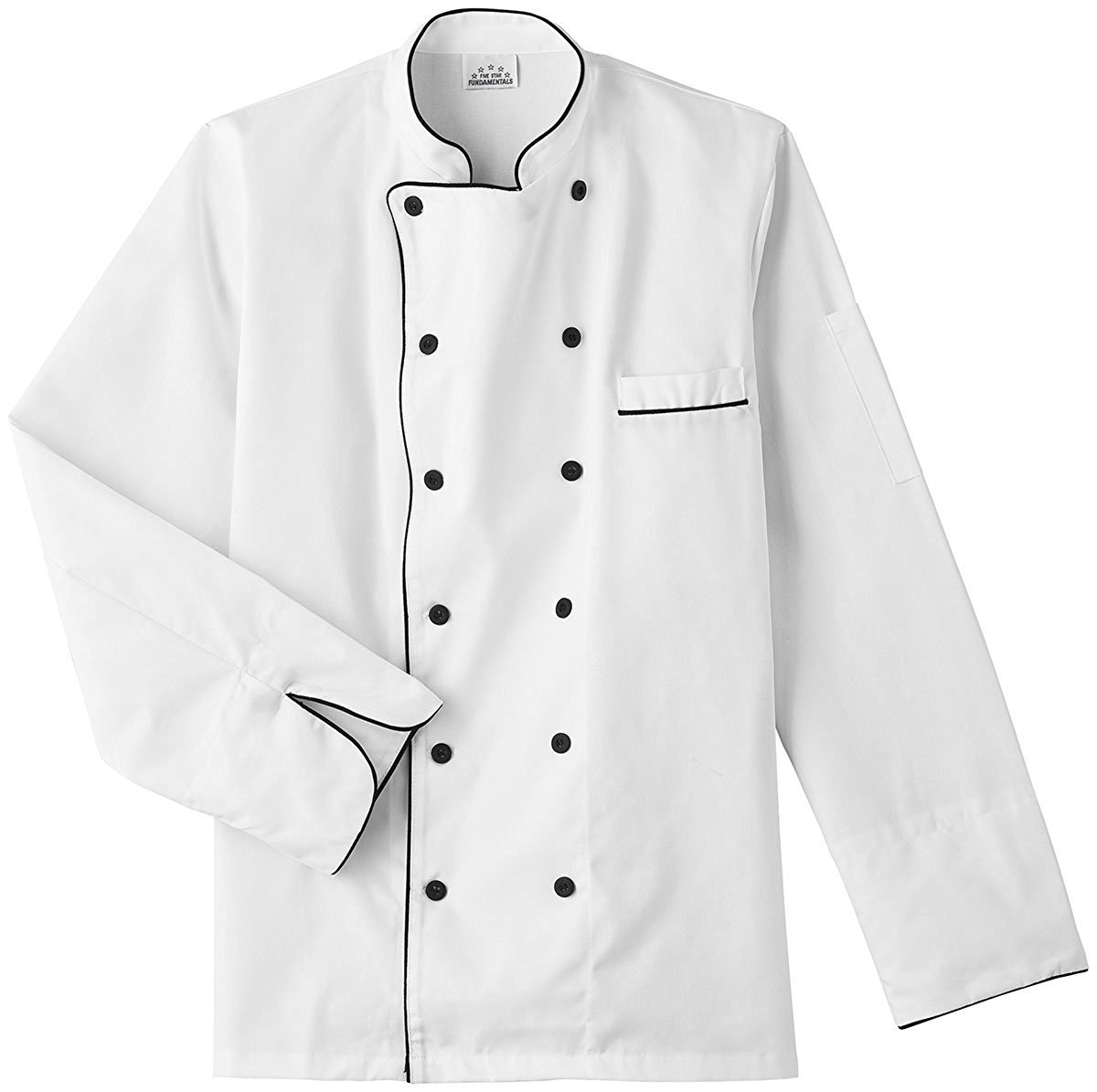 Five Star 18120 Unisex Executive Chef Coat (White, Large)