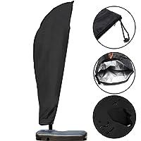 GEMITTO Umbrella Cover, Waterproof Patio Offset Umbrella Cover with Zipper for 9-11ft Outdoor Cantilever Parasol Umbrellas Oxford Fabric