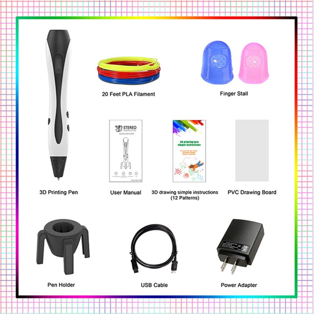 W&Z Pluma 3D para niños, Pluma de impresión 3D con filamento de ...