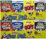 Kellogg's Cereals Variety Fun Pak, 8.56 oz, 2 pk