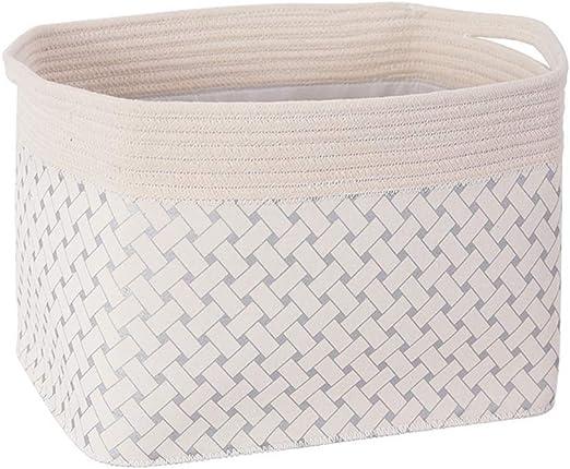 MSchunou Cómoda canasta de almacenamiento de lonas de algodón ...