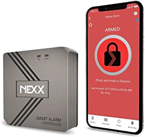 Nexx Smart Alarm Wi-Fi Controller NXAL-100 - Remotely Control Existing Alarm System with Nexx App, Works with Amazon Alexa, Google Assistant, Siri, SmartThings, No Monitoring Service Required