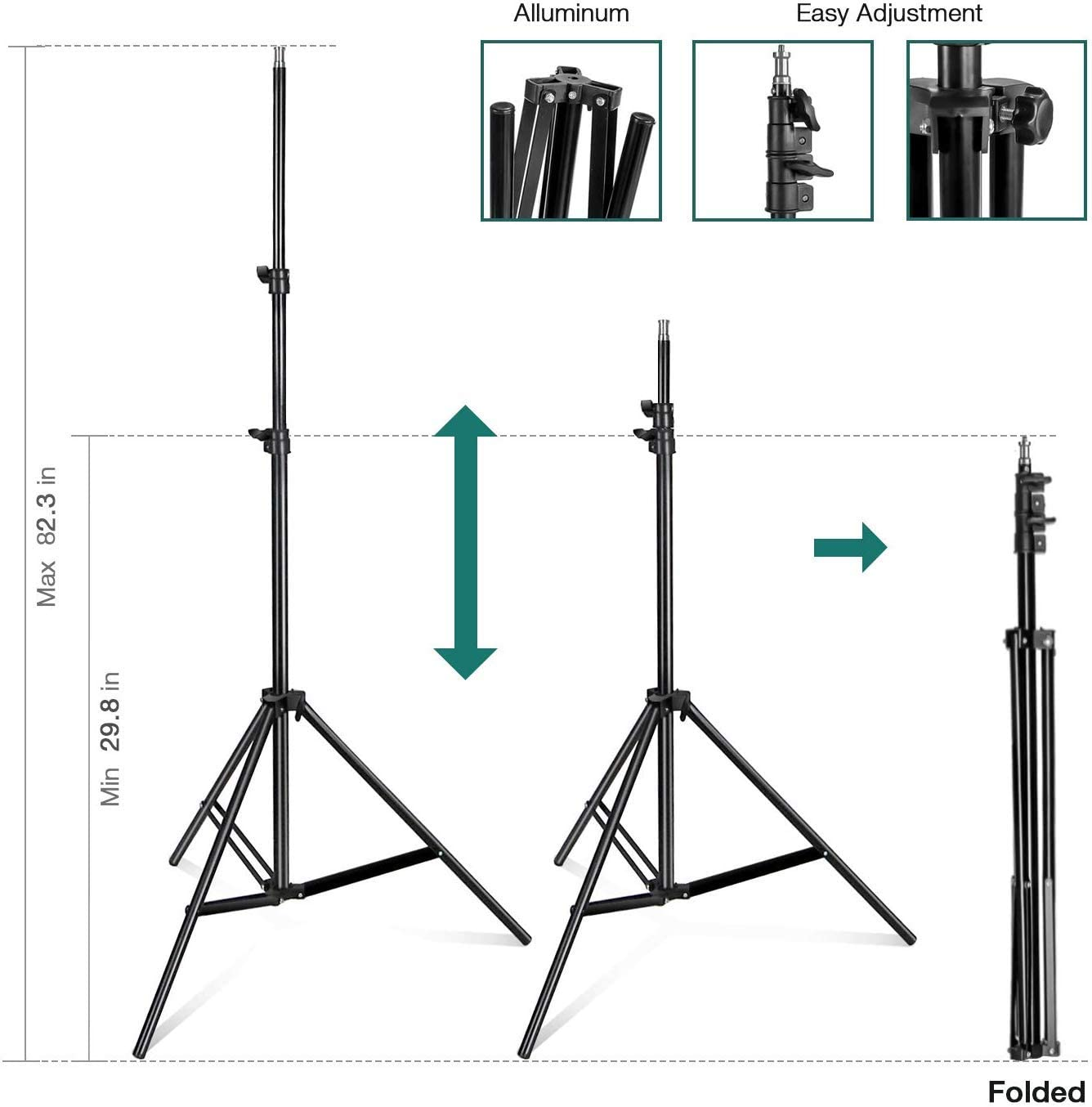 E27 CFL 105W 6500K Bulb and Light Stand for Photo Studio and Photo//Video Shooting Photography Studio Continuous 26 Octagonal Soft Box Lighting Light Kit with Photo E26 2Pack AGG3039 LimoStudio