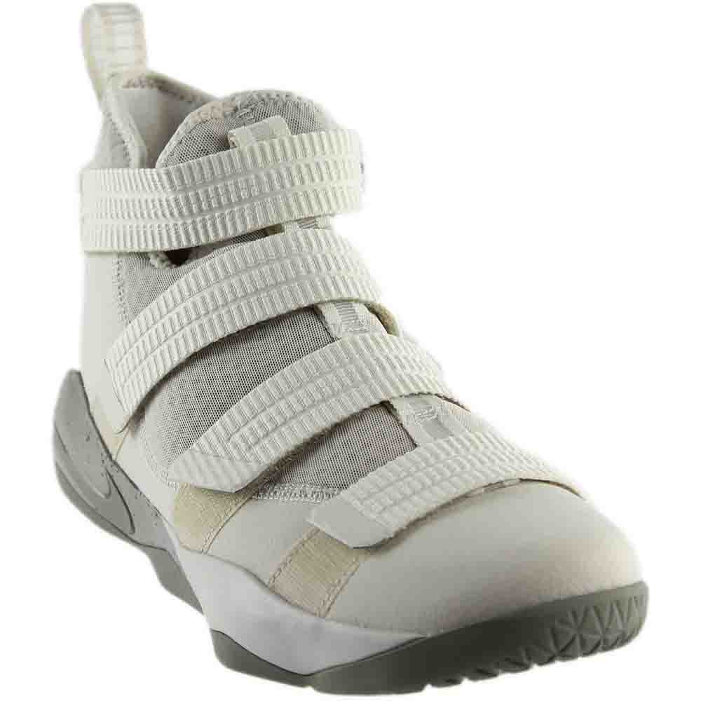 super popular 0eeb7 7dffd Galleon - NIKE Men s Lebron Soldier XI SFG Basketball Shoe Light Bone Dark  Stucco-Black 10.5