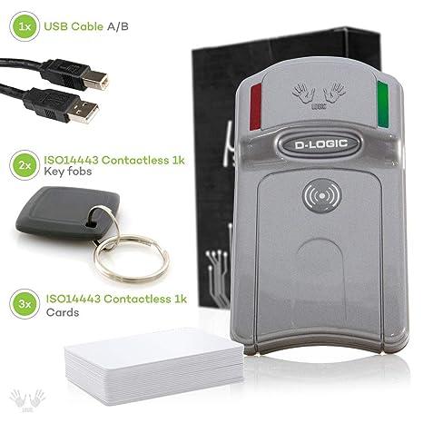 D-Logic µFR Advance - RFID, NFC Reader Writer, 13 56MHz Contactless Smart  Card Programmer for Windows, Linux, Mac OS X, Raspberry Pi, Beaglebone +