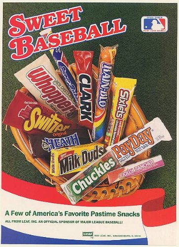 1989-leaf-candy-bars-milk-duds-whoppers-clark-jolly-rancher-sweet-baseball-print-ad-memorabilia-5477