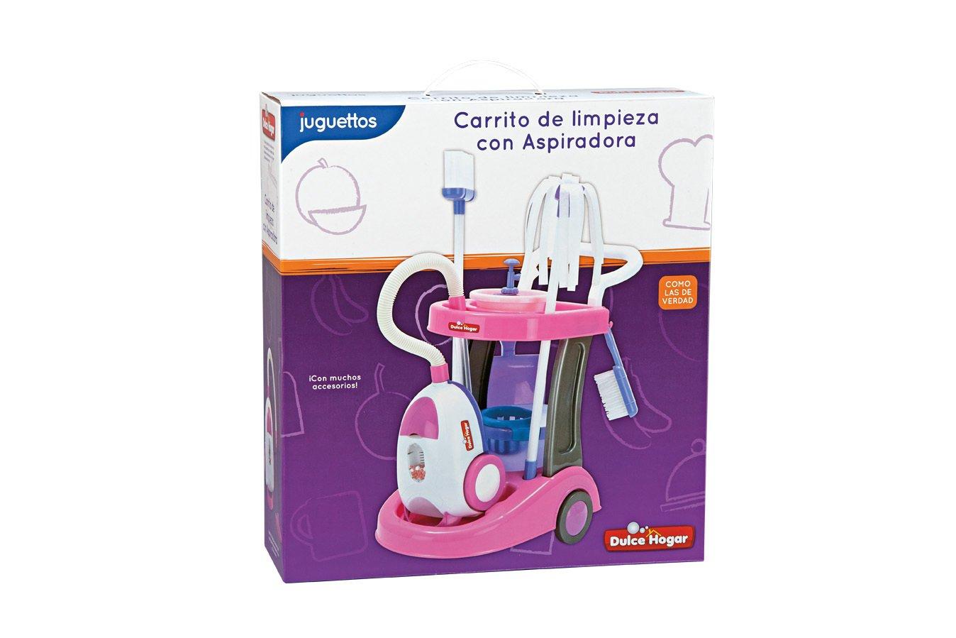 Dulce Hogar Carrito de Limpieza + Aspiradora: Amazon.es: Juguetes y juegos