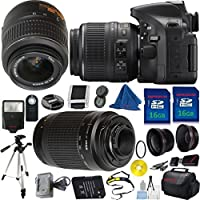 Nikon D5200 Camera with 18-55mm VR Bundle + 70-300mm G Zoom + 2pcs 16GB Memory Card + Case + Reader + Tripod + Starter Kit + Wide Angle + Telephoto + Flash + Filter - International Version At A Glance Review Image