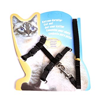 Cute Pet Cats Nylon Adjustable Harness Lead Leash Collar Belt Safety Strap Rope