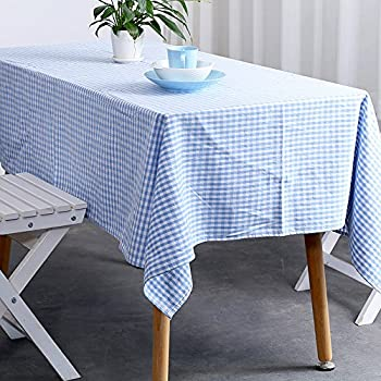 Beautiful Jennice House Vintage Gingham Tablecloths 55X80 Inch Rectangular Oversized  Christmas Holiday Home Decorative100% Pure Cotton