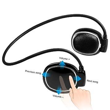 Conducción ósea Auriculares inalámbrico Bluetooth 4,1 auriculares con micrófono a prueba de sudor para