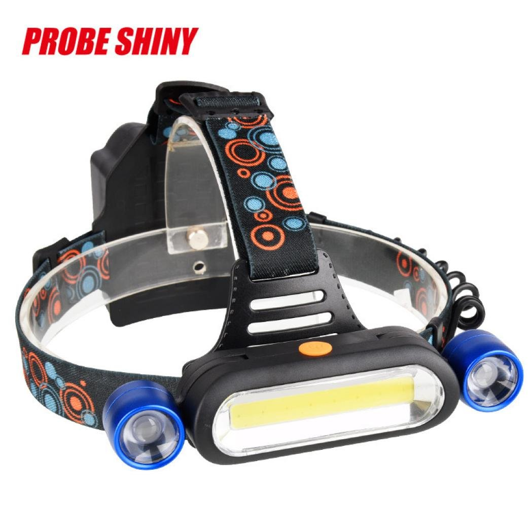 Headlamp Flashlight , Super Bright 15000LM 2x XM-L T6 LED +COB Rechargeable 18650 Headlamp Head Light Torch, Adjustable Base Best for Camping Running Hiking