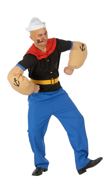 Adult Popeye The Sailor Fancy Dress Costume Mens Gents Male l xl xxl