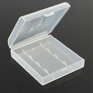 Stillar - Caja de Almacenamiento de batería de plástico Blanco Duro para 4 x 14500 Aat Clear DIY Power Bank Iqos Soporte de batería: Amazon.es: Hogar