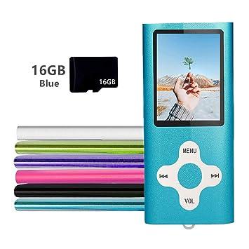 Amazon.com: Gerskji - Reproductor MP3 y MP4 con tarjeta TF ...