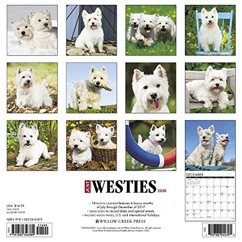 Westies 2018 Wall Calendar Photo #3
