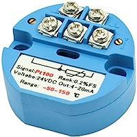 uxcell 24V DC 4-20mA -50C to 150C PT100 Temperature Sensor Transmitter