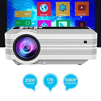 Zichen Mini Home Projector, Video Projector 2500Lux Screen ...