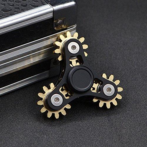 DoDoMagxanadu 4 Gear Fidget Spinner Metal Brass Linkage Metal Gear Hand Spinner Fidget Toy Relievers Stress and Anxiety Anti Depression Toy by DoDoMagxanadu (Image #2)