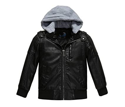 277a4209 Amazon.com: Winter Jacket Girls Leather Jacket Winter Jacket Toddler ...