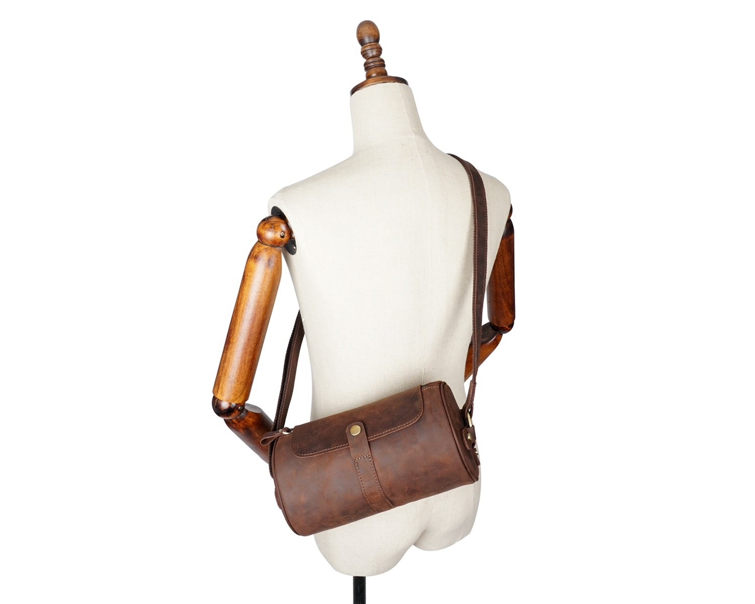 Color : Brown, Size : S XINXI-MAO Cozy Mens Crossbody Retro Crazy Horseskin Mens Bags Leather Cowhide Messenger Bags Leather Shoulder Bags Backpack