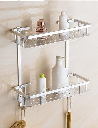 Extrem feste Duschregal Space Aluminium-Rahmen doppelte Regale ...