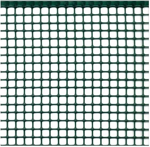 Altezza rotolo 1 mt lunghezza 10 metri.Colore Verde. Rete per balconi,Rete in plastica per balconi e recinzioni.Rete rinforzata sui lati lunghi