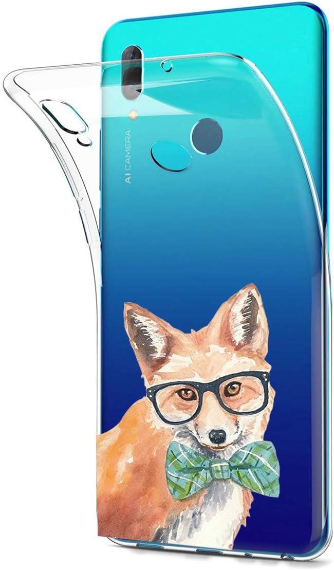 Caler H/ülle Kompatibel mit Huawei P Smart 2019//Honor 10 Lite 2019 Handyh/ülle TPU Bumper Silikon Transparent Weiche Schlank Schutzh/ülle Handytasche Gummi D/ünn Flexibel Case Handy Soft Back Cover