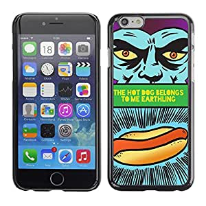 CaseCaptain Carcasa Funda Case - Apple Iphone 6 PLUS 5.5 / Funny Hot Dog Sign /