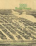 2020 Weekly Planner: Asbury Park, New Jersey (1881): Vintage Panoramic Map Cover
