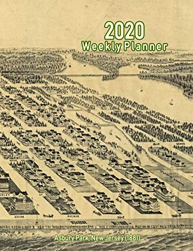 2020 Weekly Planner: Asbury Park, New Jersey (1881): Vintage Panoramic Map - Panoramic Map Nj