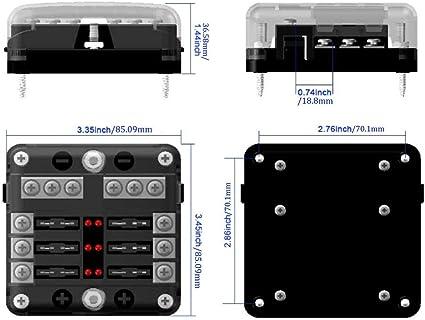 greatangle multifunktionaler 6-wege-sicherungskasten sitzklemmenkasten  sammelschienenpol marine boat hgv modified fuse box fuse box: amazon.de:  küche & haushalt  amazon.de