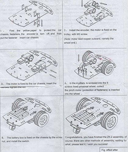 kooky smart car chassis 2wd 3v  uno r3 board