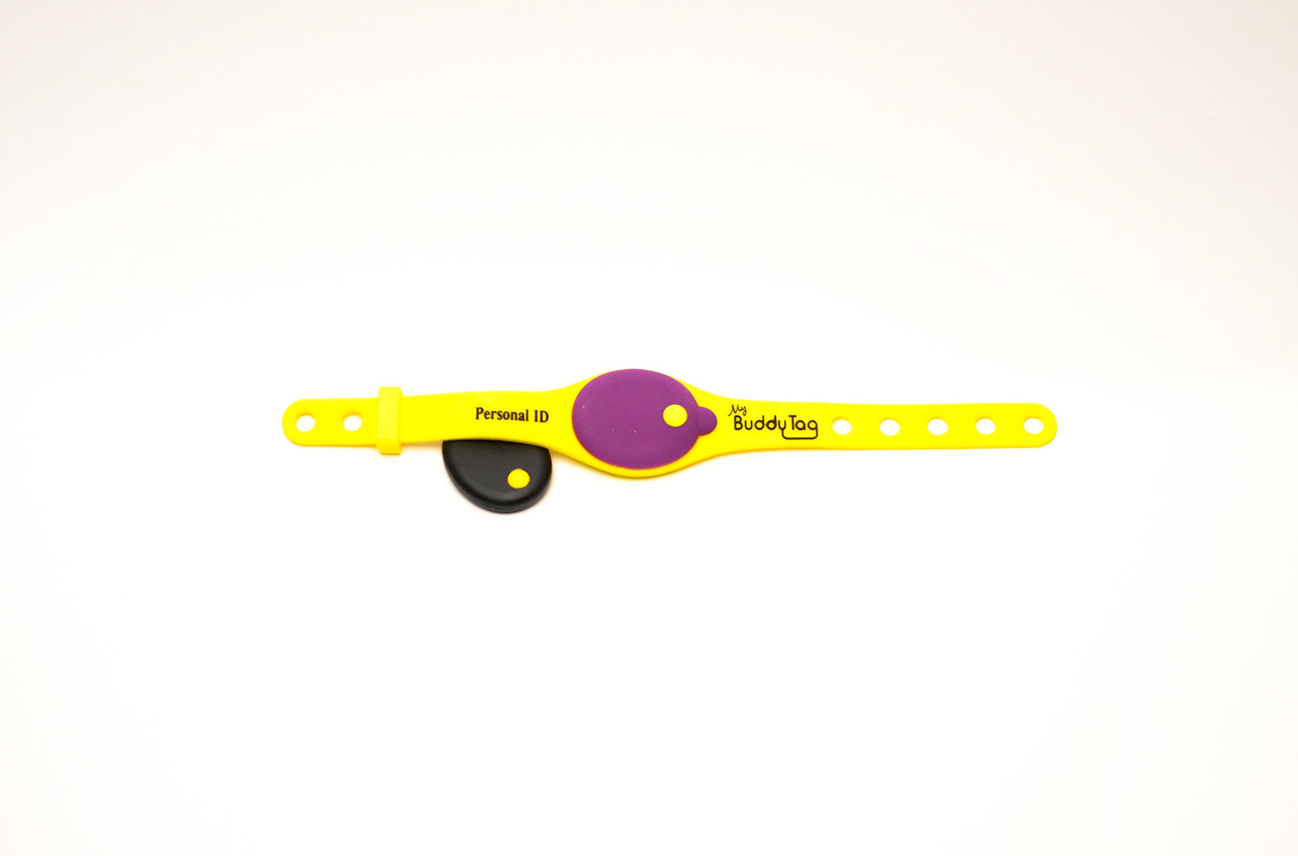 My Buddy Tag with Silicone Wristband, Yellow by My Buddy Tag (Image #4)