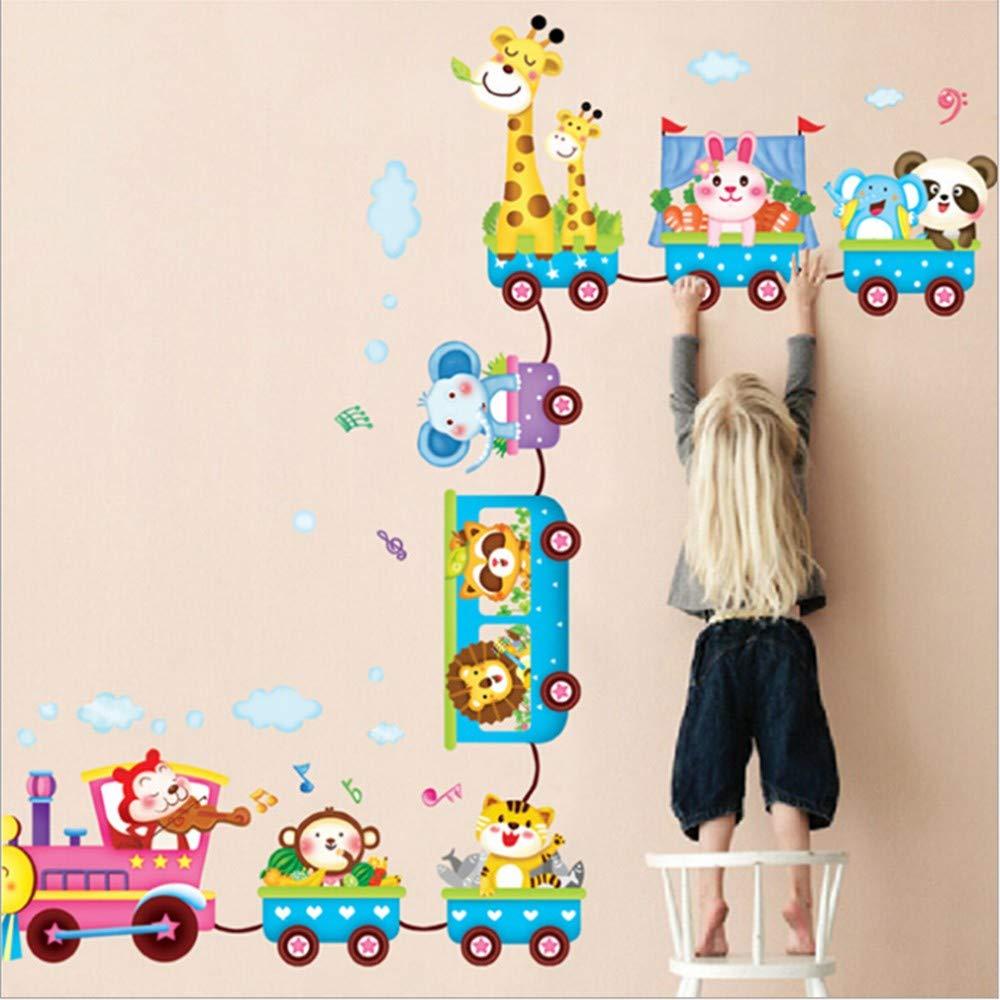WHFDRHQT Pegatina Pared Animales en el tren Pegatinas de pared Papel de pared Rollo para habitació n de niñ os, A WHFDRHQT@