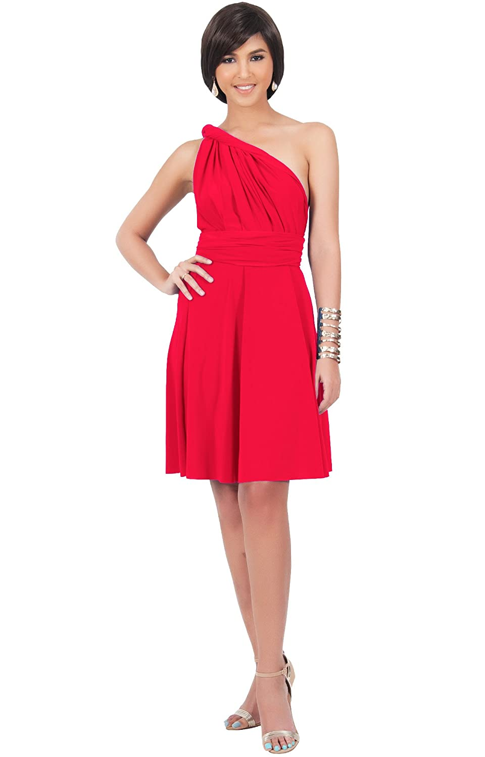 Koh koh womens short convertible wrap bridesmaids sexy cocktail koh koh womens short convertible wrap bridesmaids sexy cocktail flowy mini dress at amazon womens clothing store ombrellifo Image collections