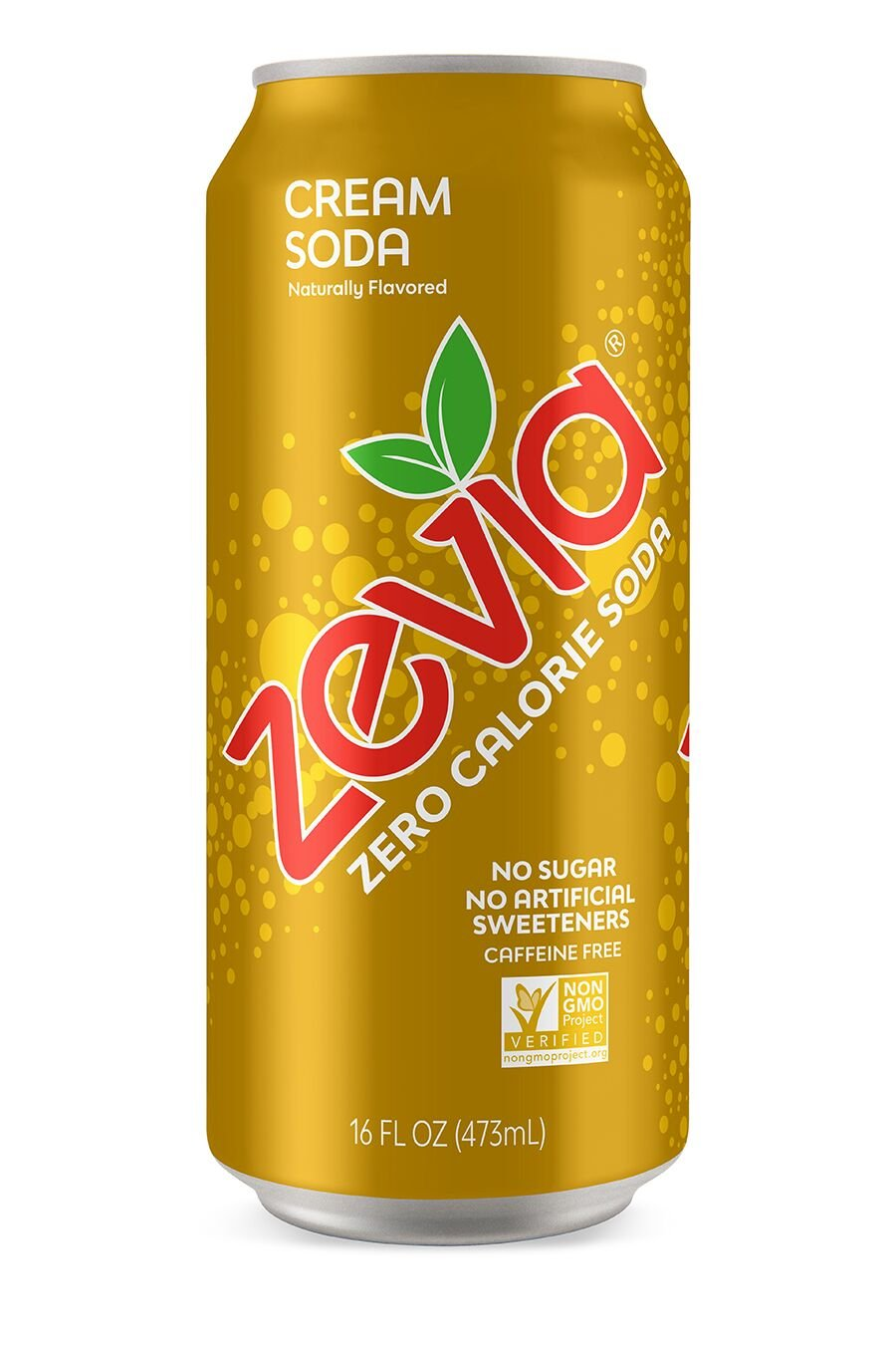 Zevia Cream Soda, 16 Ounce Can (12 Count) Zero Calories or Sugar, Naturally Sweetened, Carbonated Soda, Refreshing, Flavorful, and Tasty
