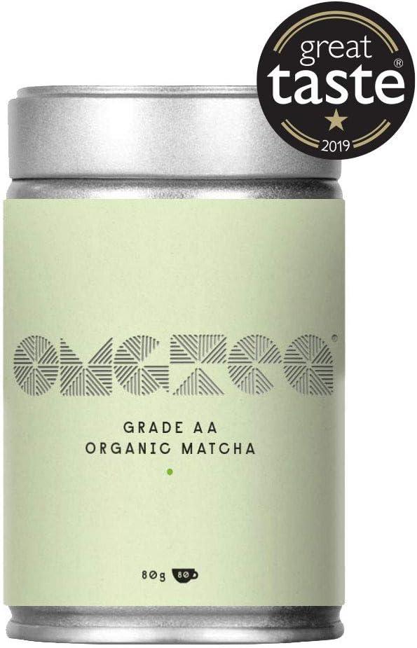 Té Verde Matcha Orgánica en Polvo - Matcha Premium Japonés Grado A lata de 80g