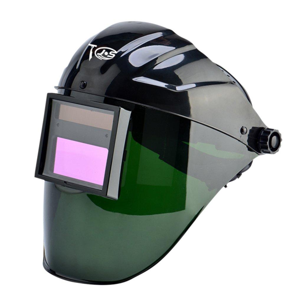 JoyUtoy Solar Power Auto Darkening Welding Helmet with Wide Shade Range 4/5-9/9-13 (Black 9008)